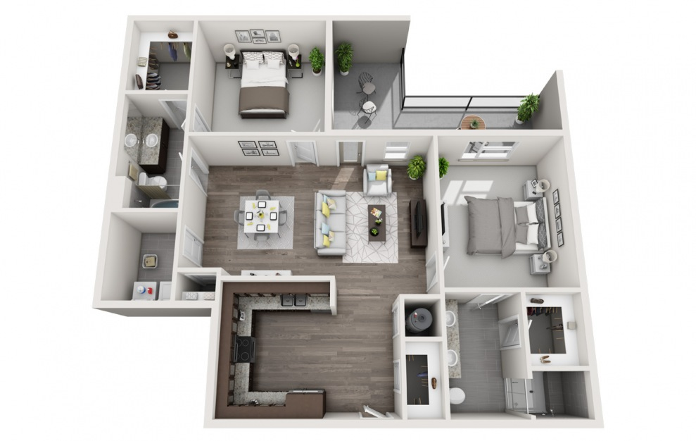 C1 | 2 Bed, 2 Bath, 1169 sq. ft. Apartment at Galleries at Park Lane