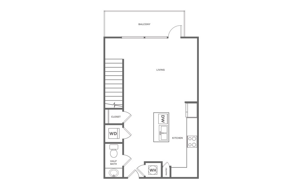 L1 | 1 Bed, 1 Bath, 951 sq. ft. Apartment at Galleries at Park Lane