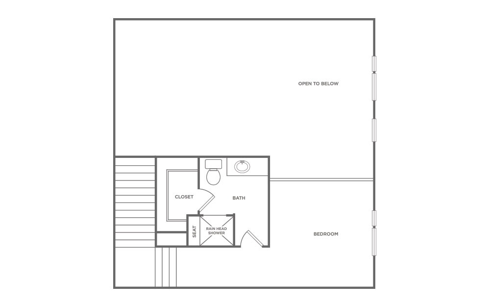 L4 - 2 bedroom floorplan layout with 2 baths and 1190 square feet. (Floor 2 / 2D)