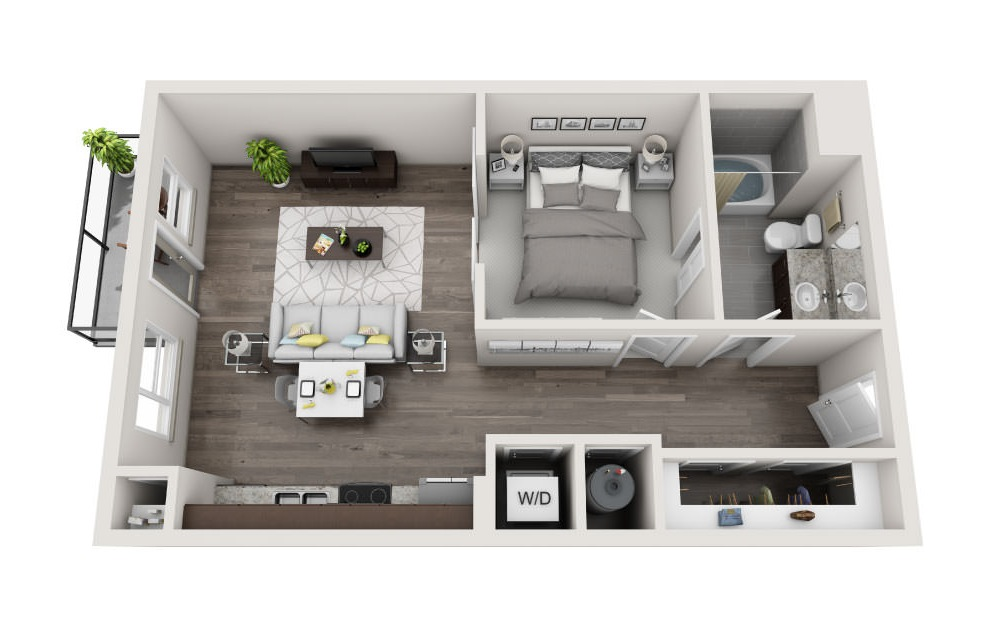 S1.1 | Studio, 1 Bath, 692 sq. ft. Apartment at Galleries at Park Lane