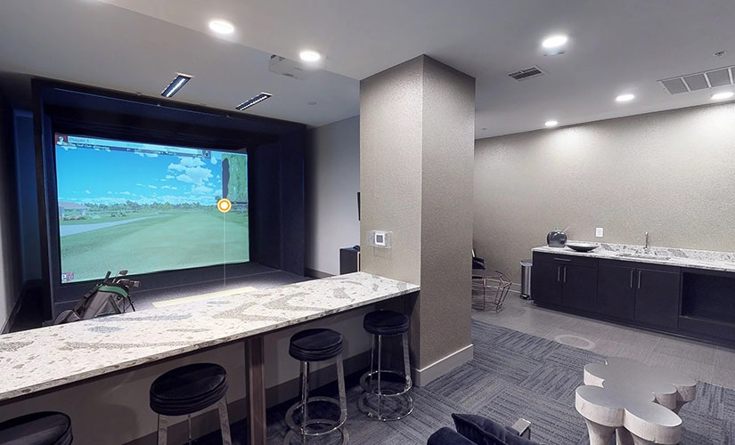 Golf Simulator Lounge